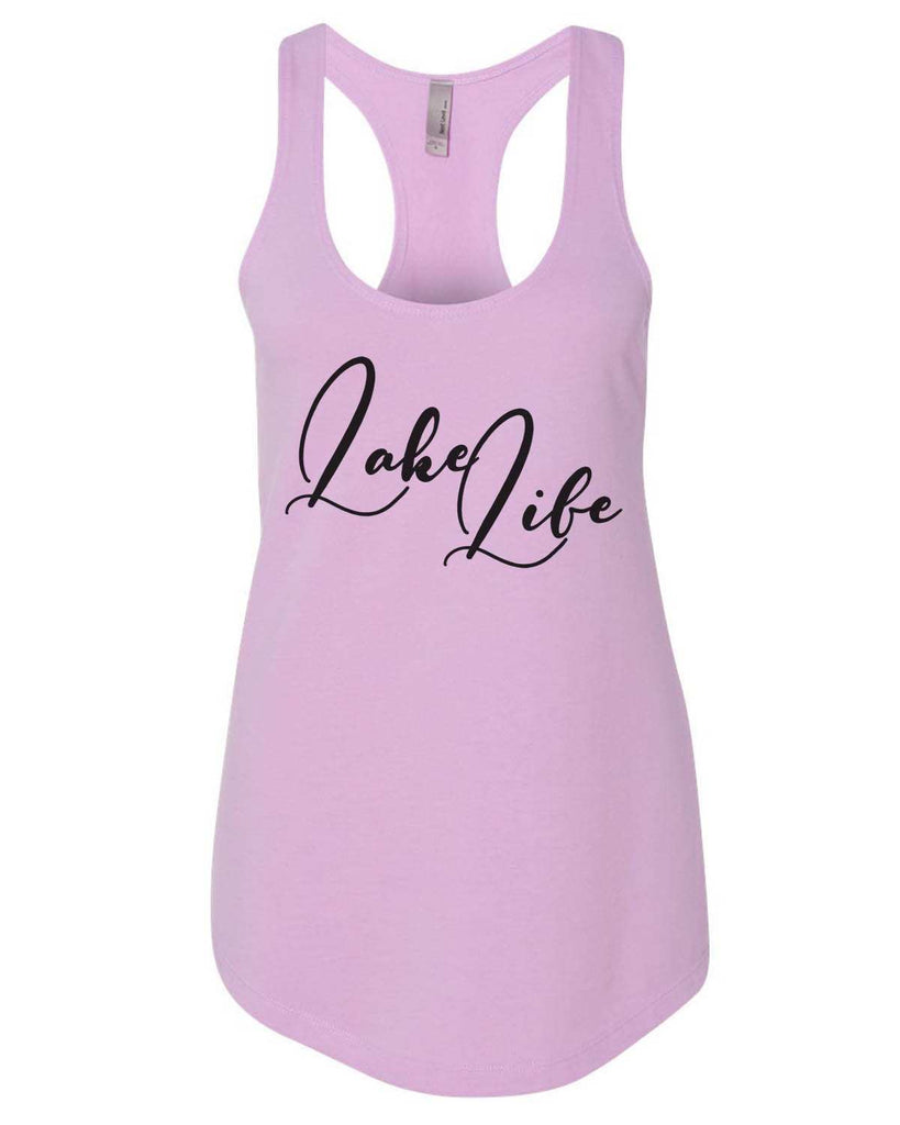Lake Life Womens Workout Tank Top Funny Shirt Small / Lilac