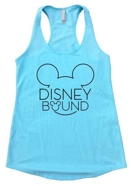 Disney Bound Womens Workout Tank Top Funny Shirt Small / Cancun Blue