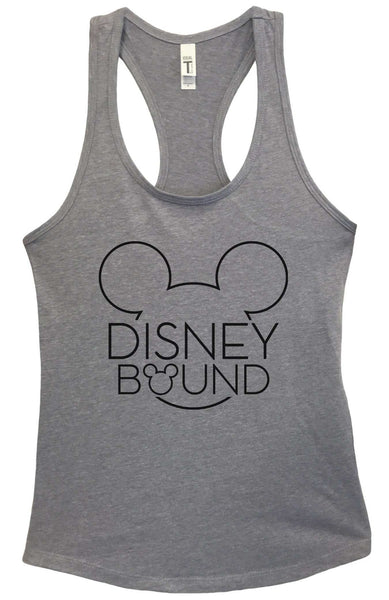 Disney Bound Grapahic Design Fitted Tank Top Funny Shirt Small / Heather Grey