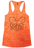 Disney Bound Burnout Tank Top By Funny Threadz Funny Shirt Small / Neon Orange