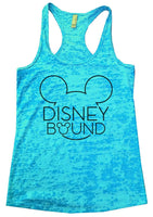 Disney Bound Burnout Tank Top By Funny Threadz Funny Shirt Small / Tahiti Blue