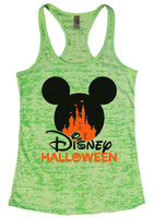 Disney Halloween Burnout Tank Top By Funny Threadz Funny Shirt Small / Neon Green
