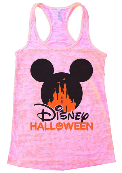 Disney Halloween Burnout Tank Top By Funny Threadz Funny Shirt Small / Light Pink