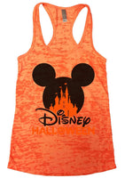 Disney Halloween Burnout Tank Top By Funny Threadz Funny Shirt Small / Neon Orange