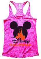 Disney Halloween Burnout Tank Top By Funny Threadz Funny Shirt Small / Shocking Pink
