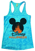 Disney Halloween Burnout Tank Top By Funny Threadz Funny Shirt Small / Tahiti Blue