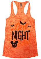 Best Night Ever Burnout Tank Top By Funny Threadz Funny Shirt Small / Neon Orange