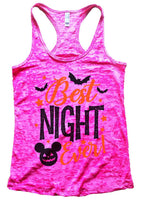 Best Night Ever Burnout Tank Top By Funny Threadz Funny Shirt Small / Shocking Pink