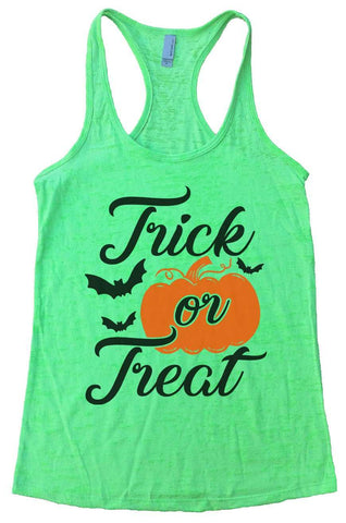 Trick or Treat Burnout Tank Top By Funny Threadz