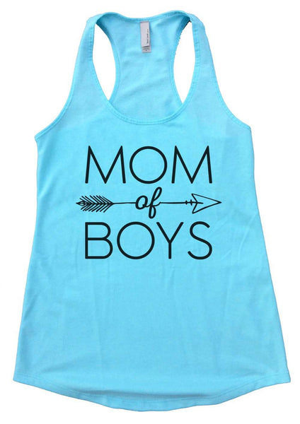 Mom Of Boys Womens Workout Tank Top Funny Shirt Small / Cancun Blue