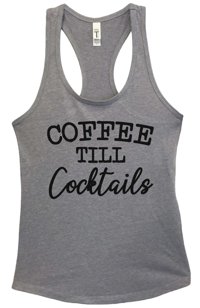Coffee till cocktails Grapahic Design Fitted Tank Top