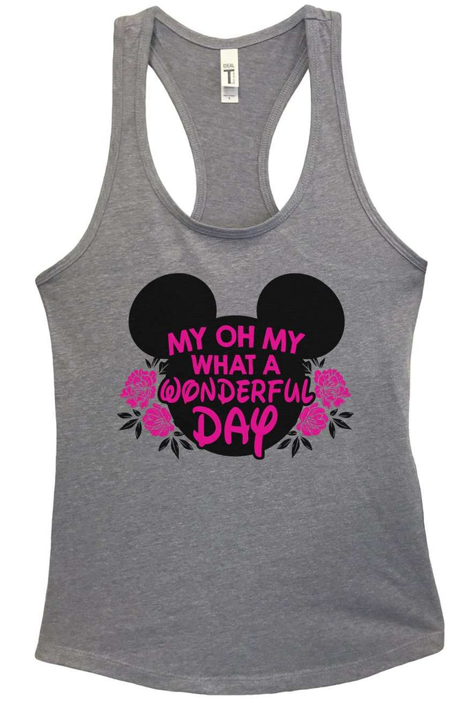 My Oh My What A Wonderful Day Grapahic Design Fitted Tank Top