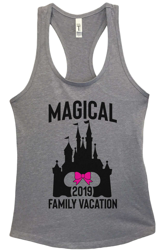 Magical Family Vacation Grapahic Design Fitted Tank Top