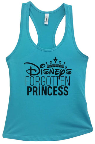 Disney's Forgotten Princess Grapahic Design Fitted Tank Top