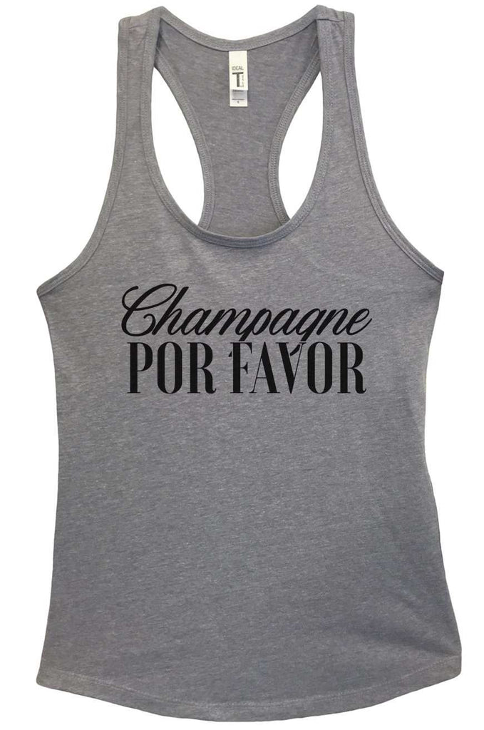 Champagne Por Favor Grapahic Design Fitted Tank Top