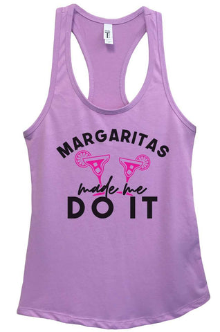 Margaritas Made Me Do It Grapahic Design Fitted Tank Top