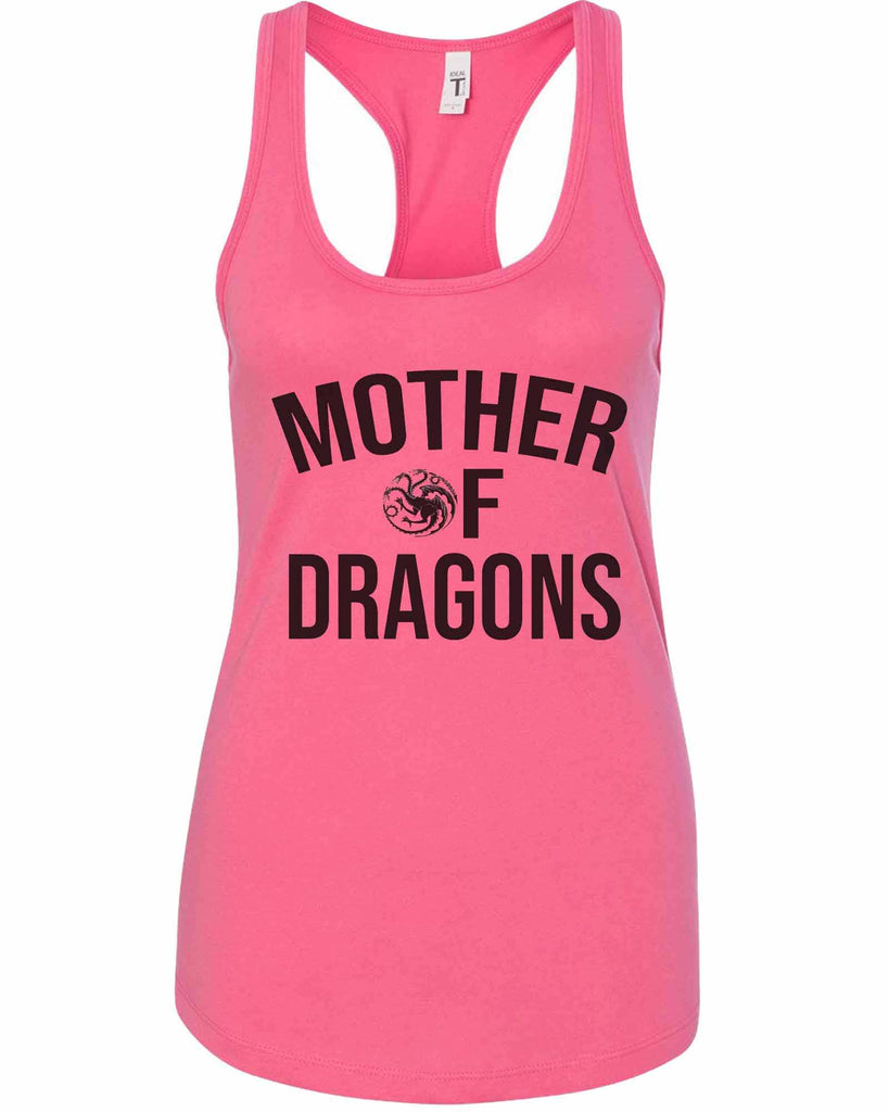 Womens Mother Of Dragons Grapahic Design Fitted Tank Top Funny Shirt Small / Fuchsia
