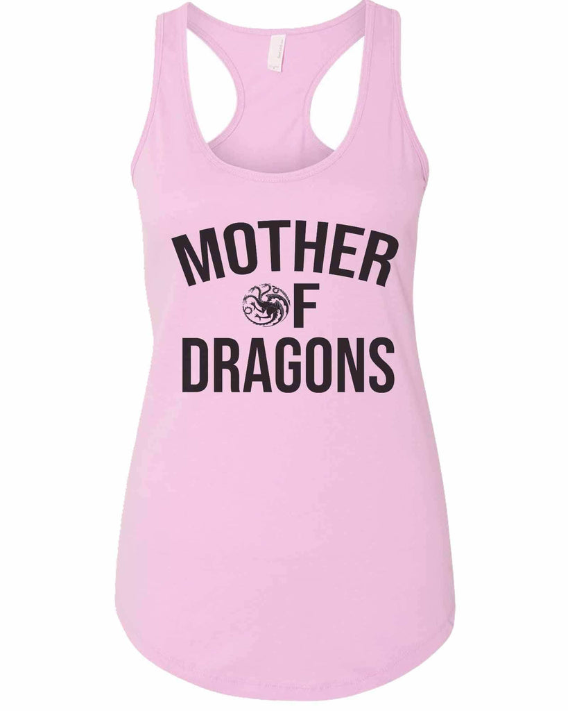 Womens Mother Of Dragons Grapahic Design Fitted Tank Top Funny Shirt Small / Lilac