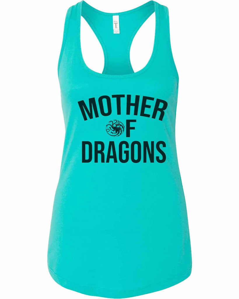 Womens Mother Of Dragons Grapahic Design Fitted Tank Top Funny Shirt Small / Sky Blue