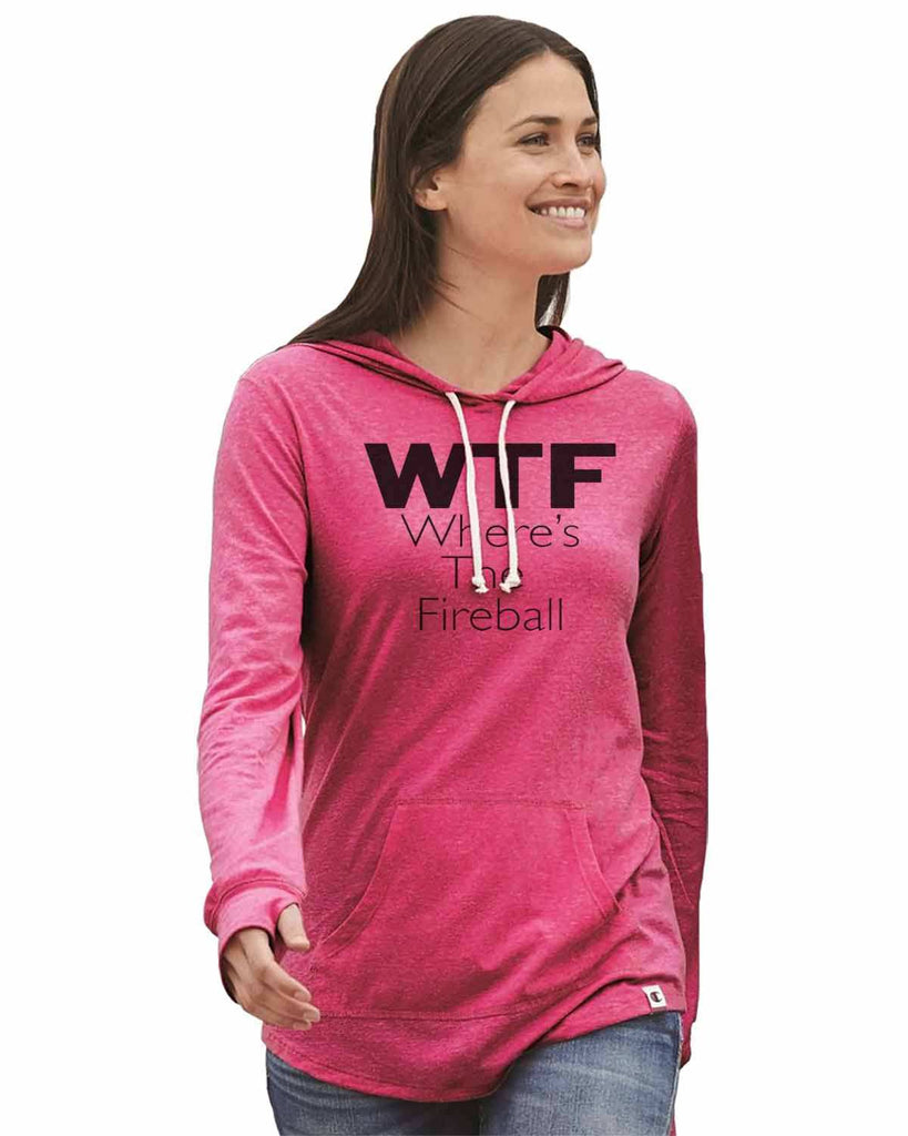Wtf Where's The Fireball - Womens Champion Brand Hoodie - Hooded Sweatshirt Funny Shirt