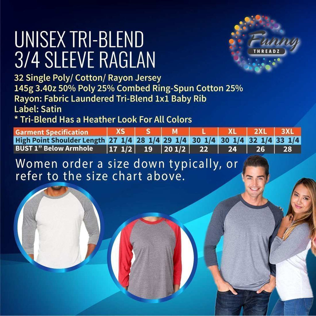 33 And Ready To Get Tipsy - Raglan Baseball Tshirt- Unisex Sizing 3/4 Sleeve - FunnyThreadz.com