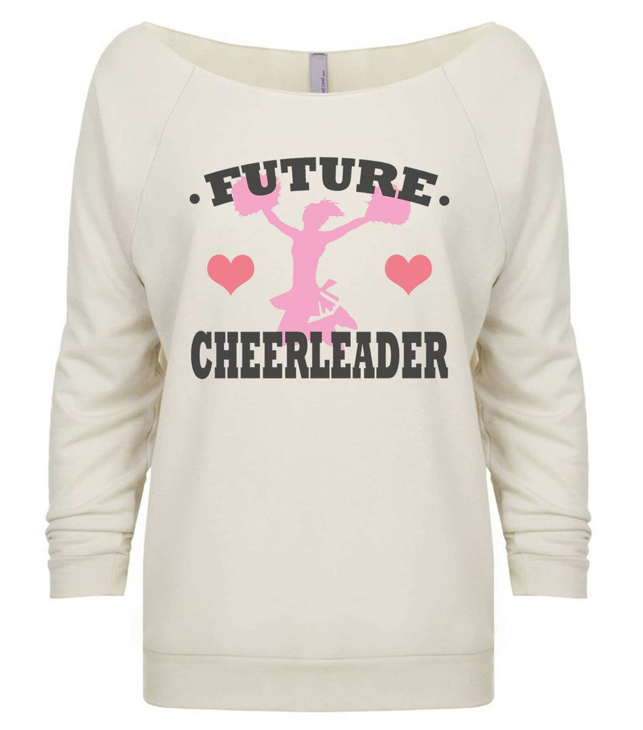 Future Cheerleader 3/4 Sleeve Raw Edge French Terry Cut - Dolman Style Very Trendy