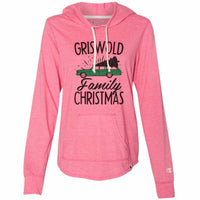 Griswold Family Christmas - Womens Champion Brand Hoodie - Hooded Sweatshirt Funny Shirt Small / Pink