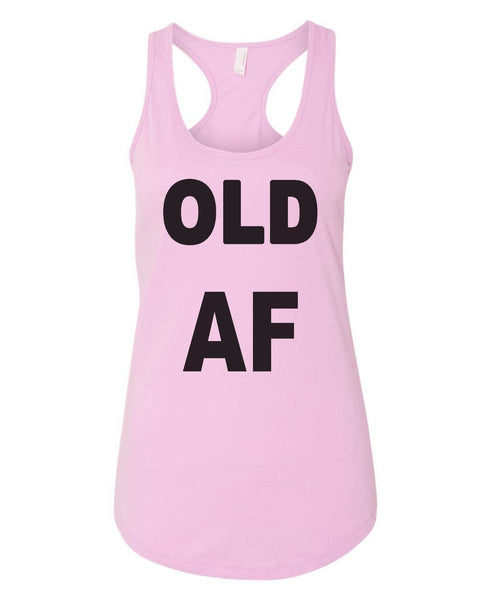 Womens Old AF Grapahic Design Fitted Tank Top Funny Shirt Small / Lilac