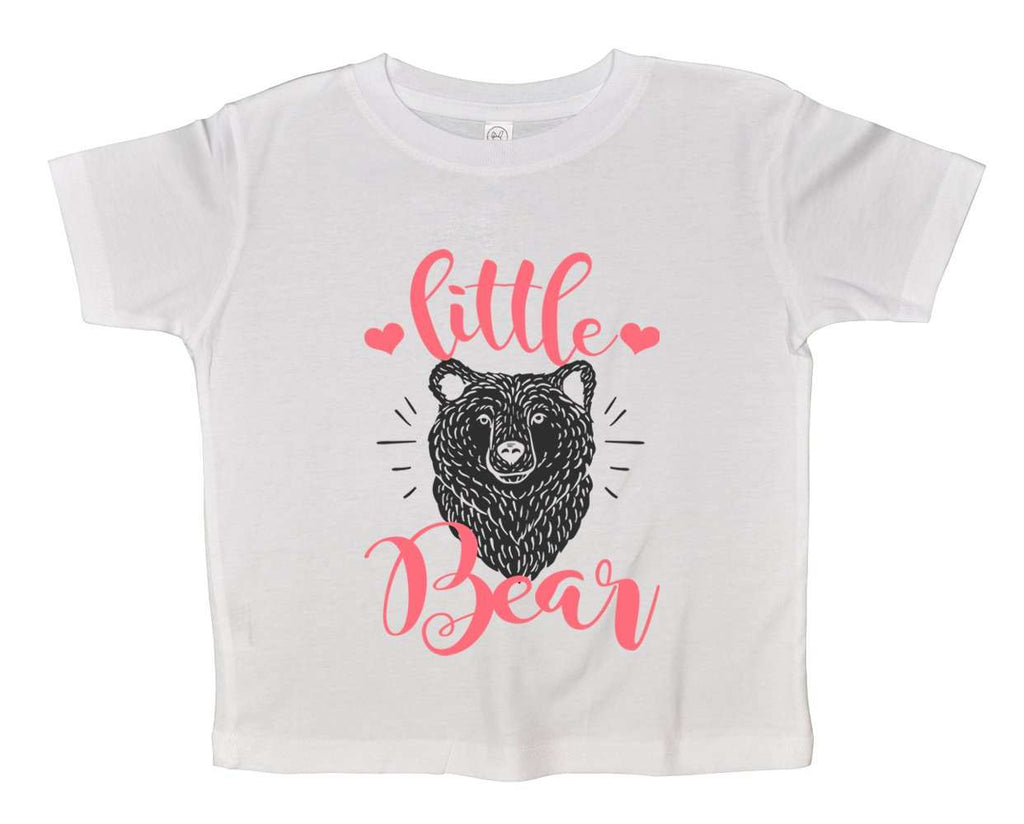 Little Bear Funny Kids bodysuit Funny Shirt 2T White Shirt