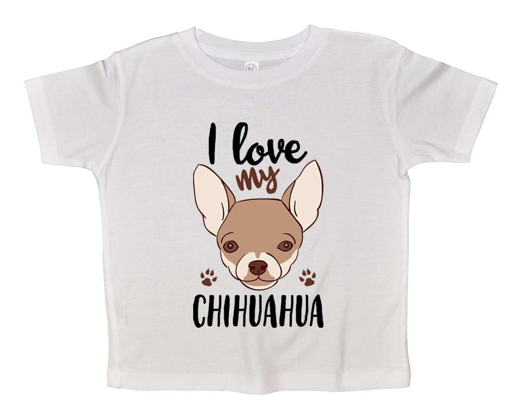 I Love My Chihuahua Funny Kids Onesie Funny Shirt