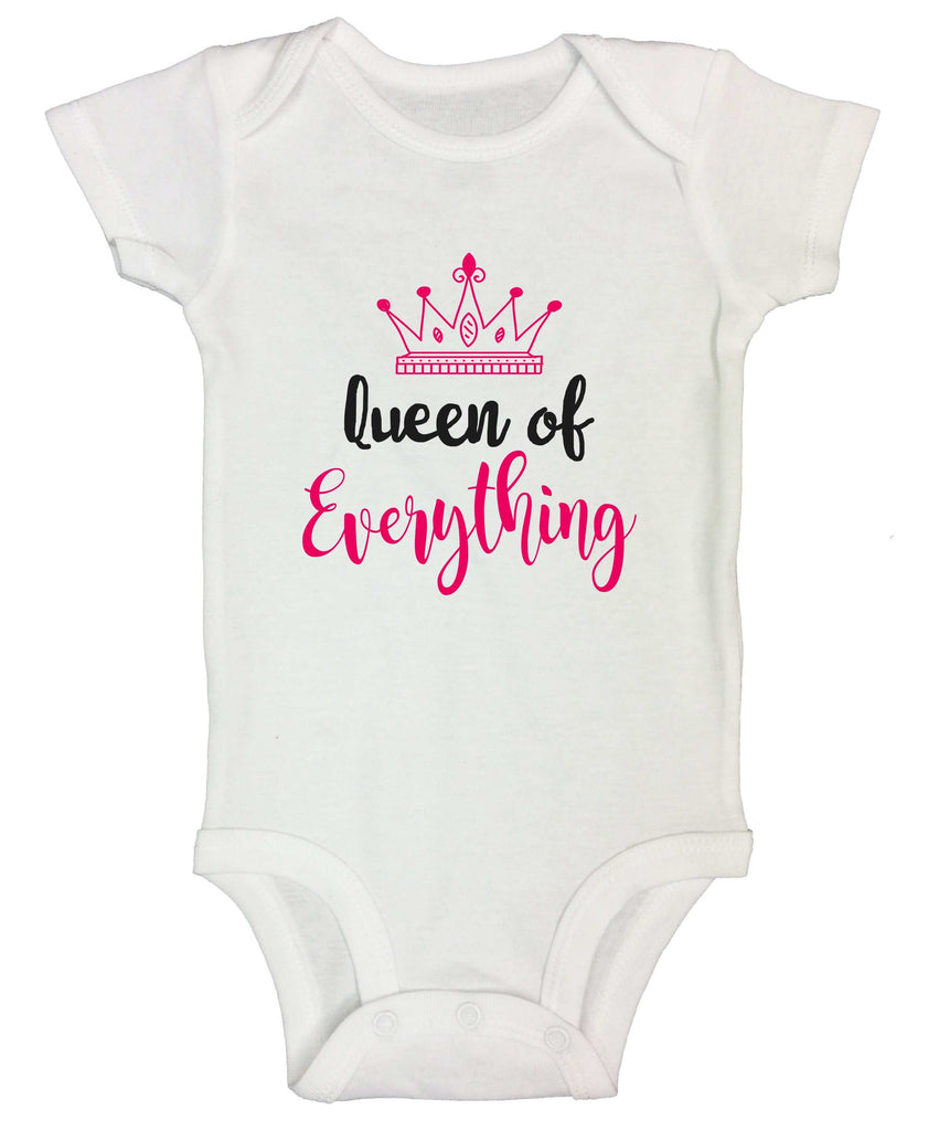 Queen Of Everything Funny Kids bodysuit Funny Shirt Short Sleeve 0-3 Months