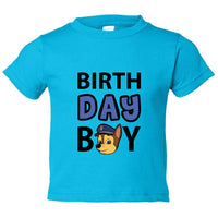 Birthday Boy Kids Toddler or Youth T-shirt Top - Game of Thrones Inspired Funny Shirt 12 Month T-Shirt / Darker Blue