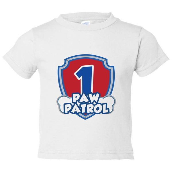 1 Paw Patrol Kids Toddler or Youth T-shirt Top - Game of Thrones Inspired Funny Shirt 12 Month T-Shirt / White