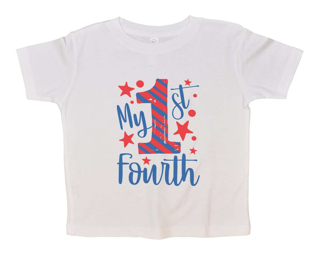 My First Fourth Funny Kids bodysuit Funny Shirt 2T White Shirt
