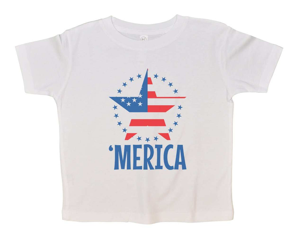Merica Funny Kids Onesie Funny Shirt Short Sleeve 0-3 Months