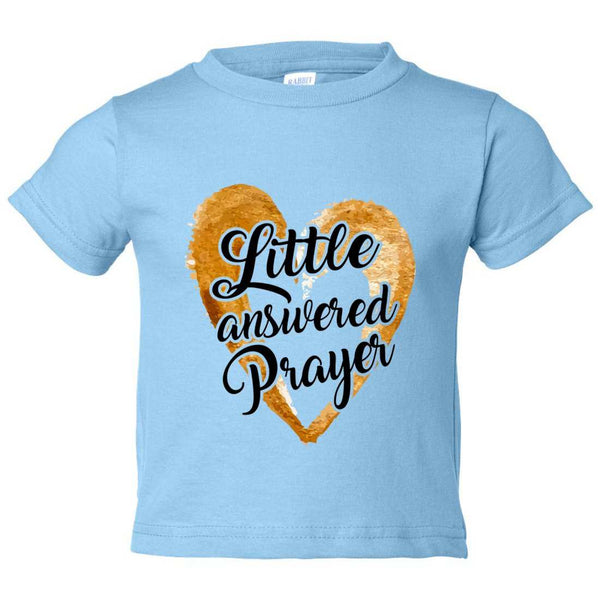 Little Answered Prayer Kids Toddler or Youth T-shirt Top - Game of Thrones Inspired Funny Shirt 12 Month T-Shirt / Baby Blue