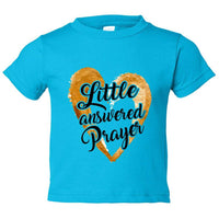 Little Answered Prayer Kids Toddler or Youth T-shirt Top - Game of Thrones Inspired Funny Shirt 12 Month T-Shirt / Darker Blue
