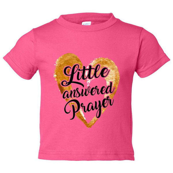Little Answered Prayer Kids Toddler or Youth T-shirt Top - Game of Thrones Inspired Funny Shirt 12 Month T-Shirt / Hot Pink