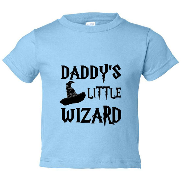 Daddy's Little Wizard Kids Toddler or Youth T-shirt Top - Game of Thrones Inspired Funny Shirt 12 Month T-Shirt / Baby Blue