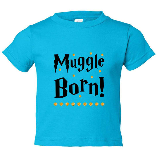 Muggle Born! Kids Toddler or Youth T-shirt Top - Game of Thrones Inspired Funny Shirt 12 Month T-Shirt / Darker Blue