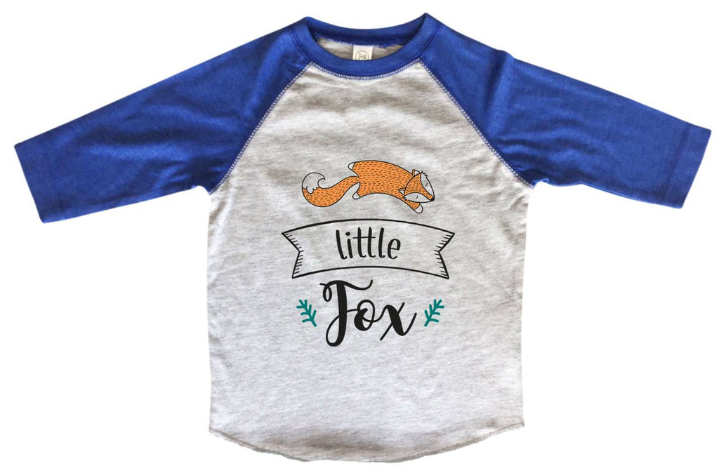 Little Fox BOYS OR GIRLS BASEBALL 3/4 SLEEVE RAGLAN - VERY SOFT TRENDY SHIRT B955