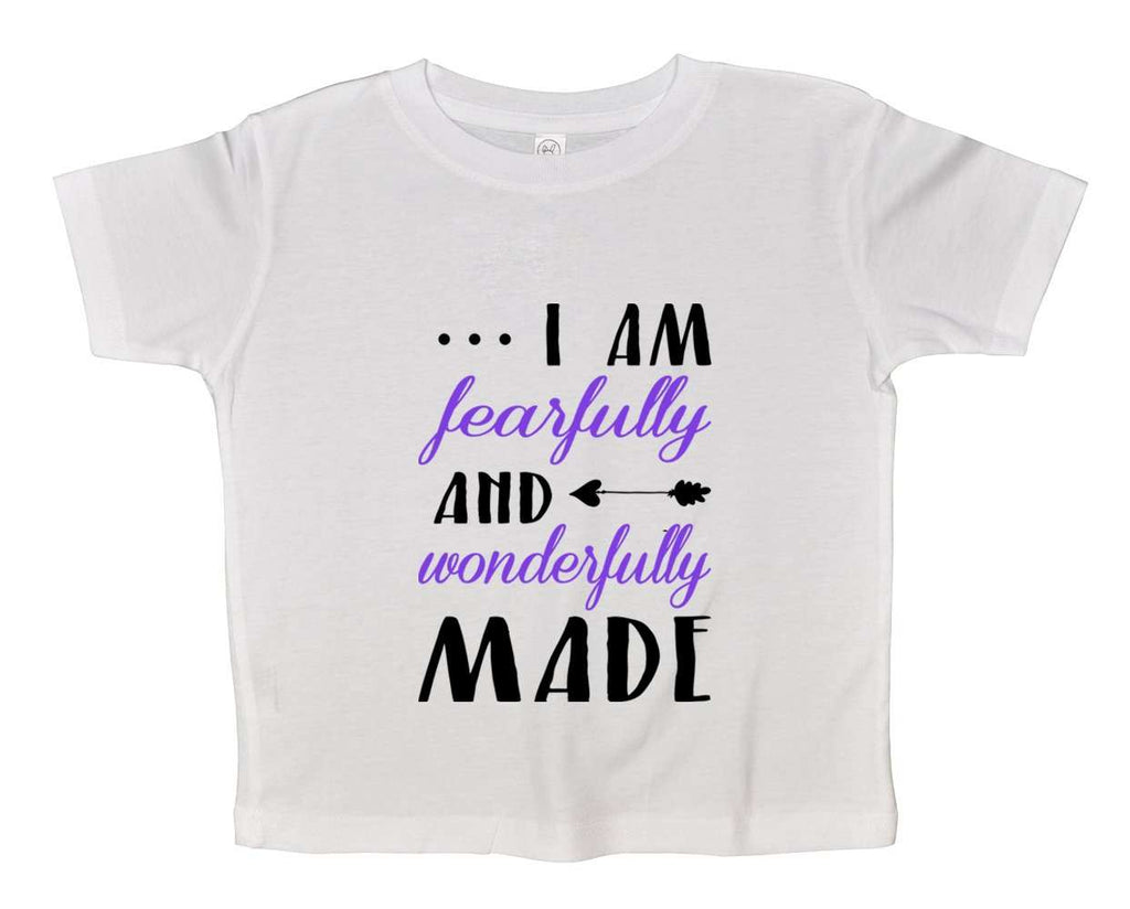 I Am Fearfully And Wonderfully Made Funny Kids Onesie Funny Shirt 2T White Shirt / White