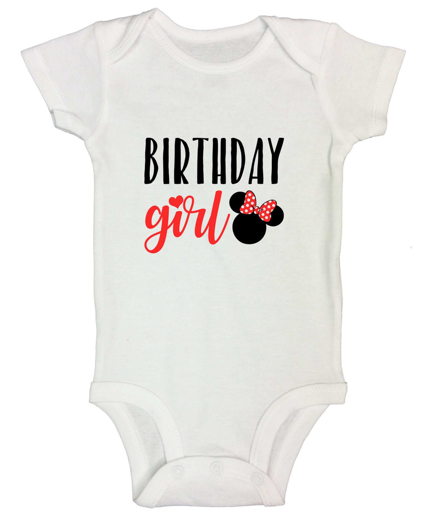 Birthday Girl Funny Kids Onesie Funny Shirt Short Sleeve 0-3 Months / White