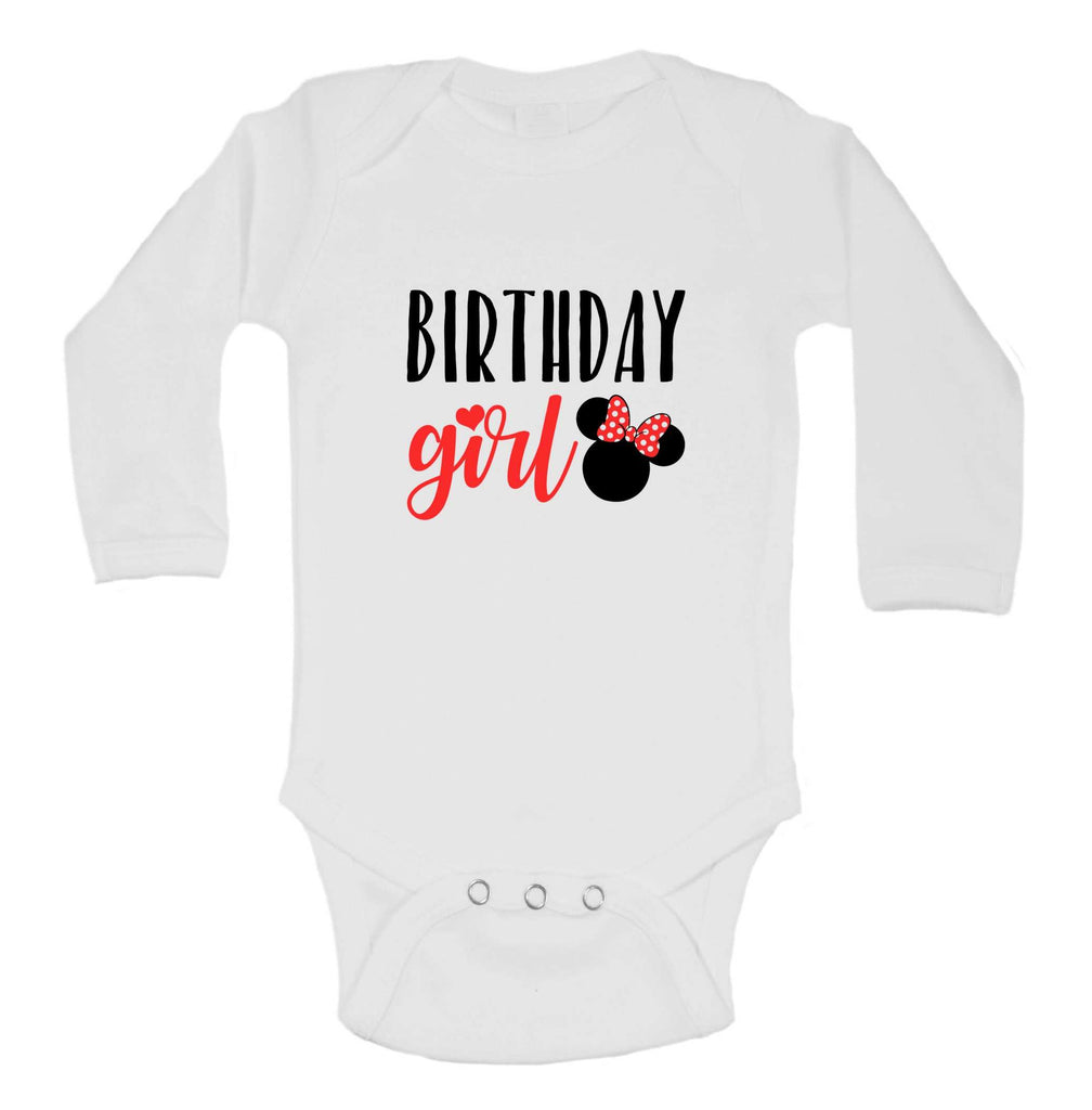 Birthday Girl Funny Kids Onesie Funny Shirt Long Sleeve 0-3 Months / White