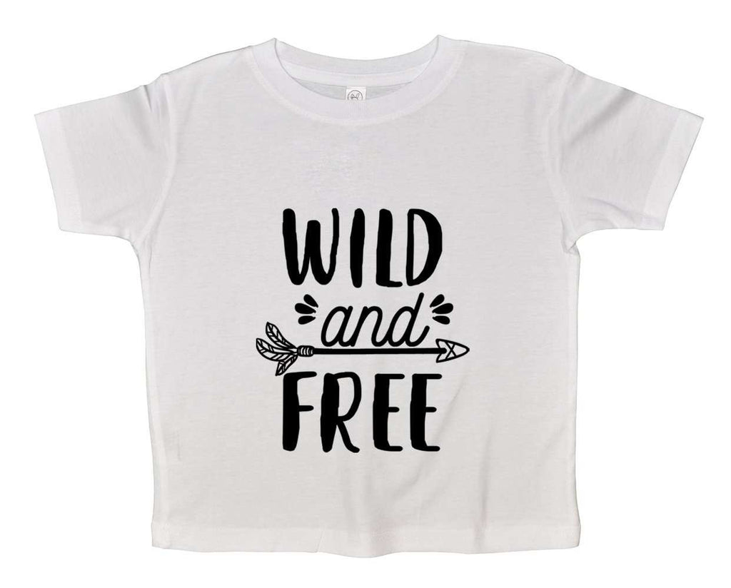 Wild And Free Funny Kids bodysuit Funny Shirt 2T White Shirt