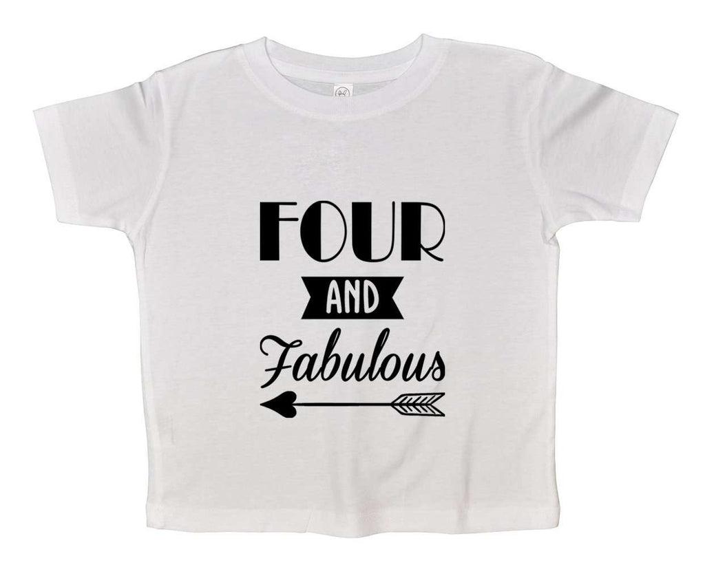 Four And Faboulous Funny Kids bodysuit Funny Shirt Short Sleeve 0-3 Months
