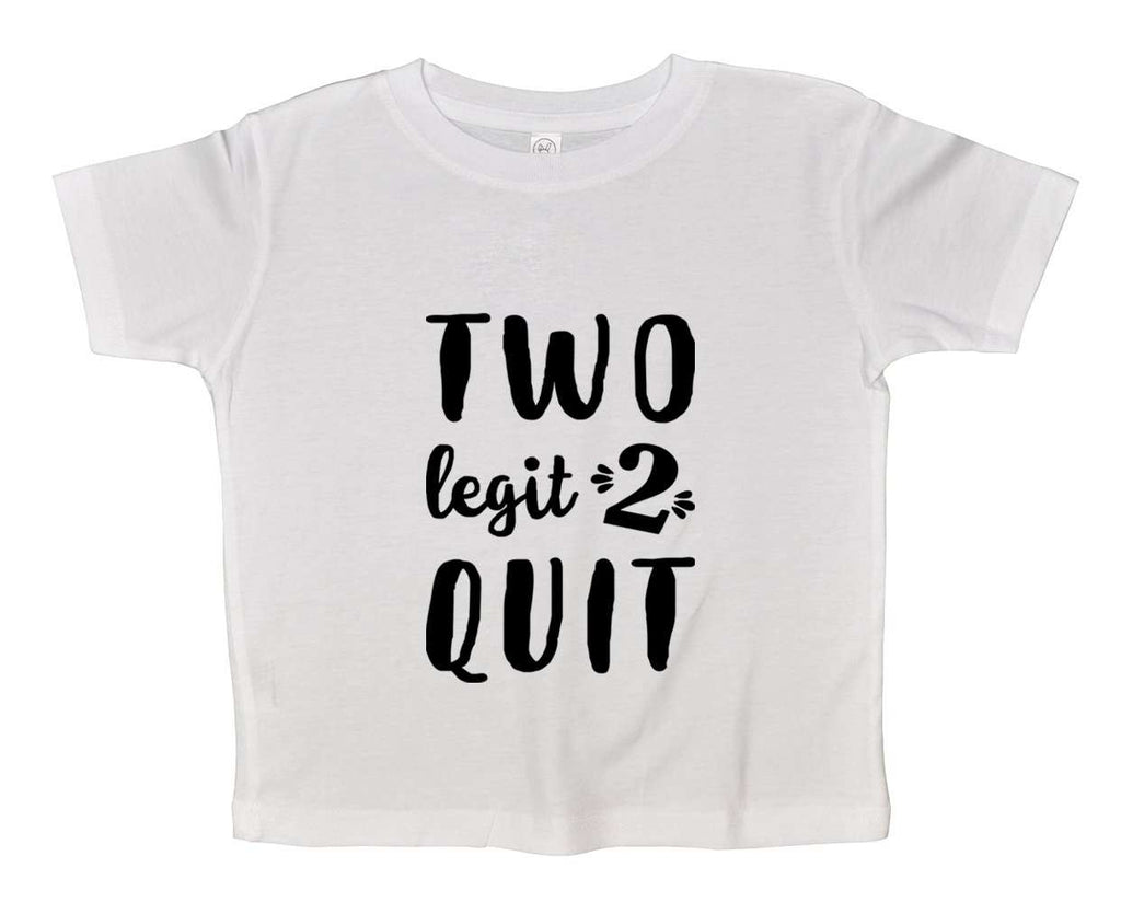 Two Legit 2 Quit Funny Kids bodysuit Funny Shirt Short Sleeve 0-3 Months