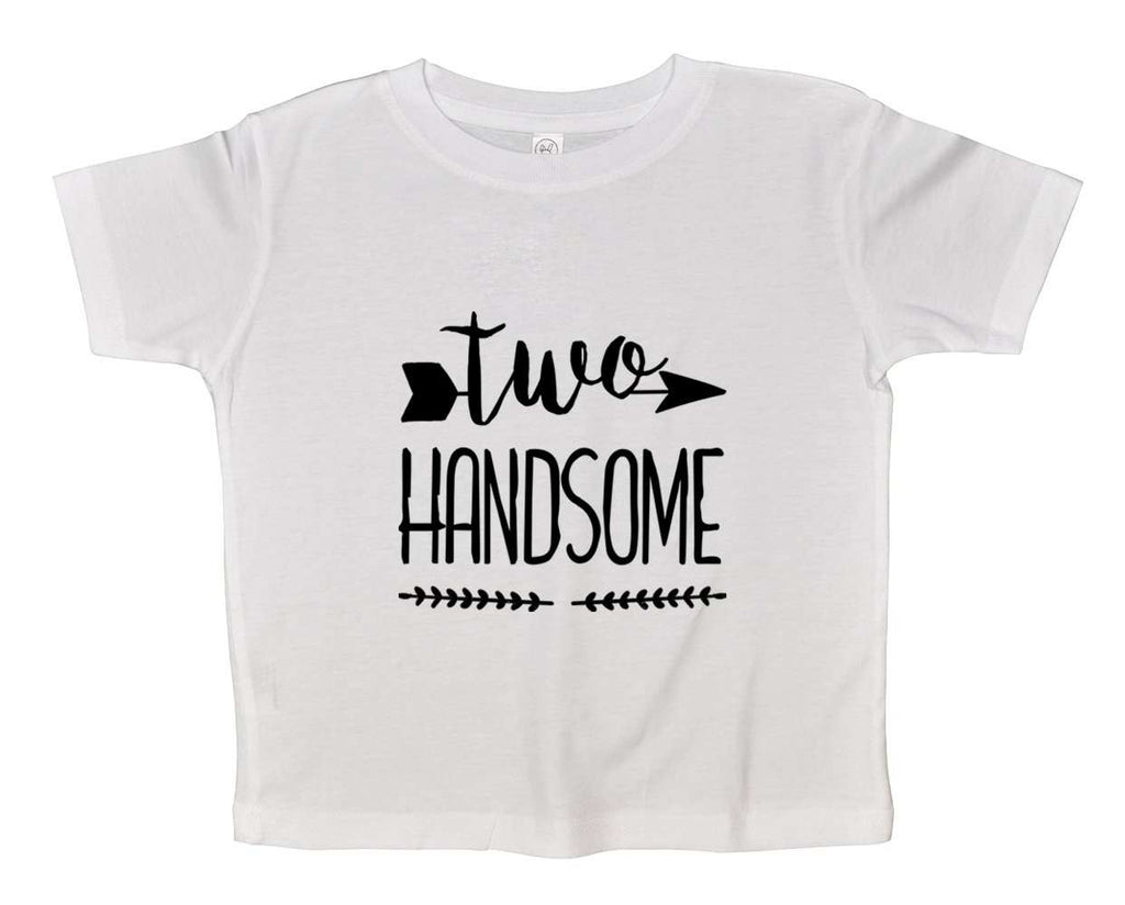 Two Handsome Funny Kids bodysuit Funny Shirt 2T White Shirt