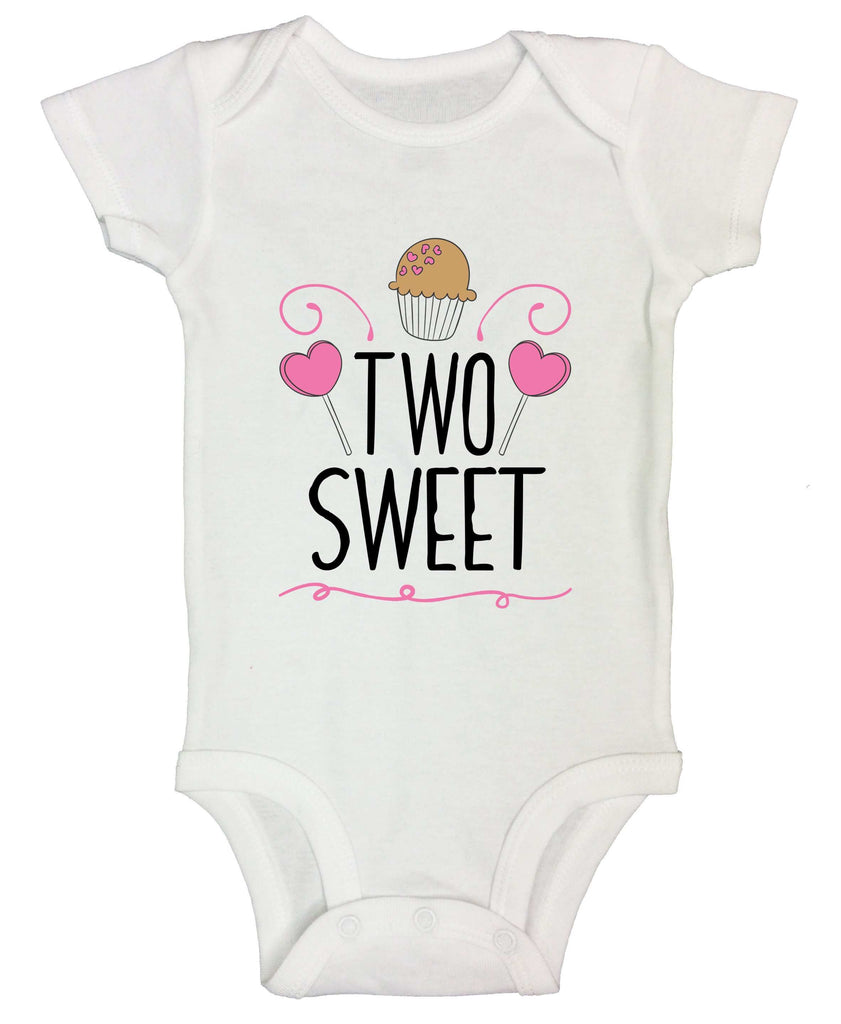 Two Sweet Funny Kids bodysuit Funny Shirt Short Sleeve 0-3 Months