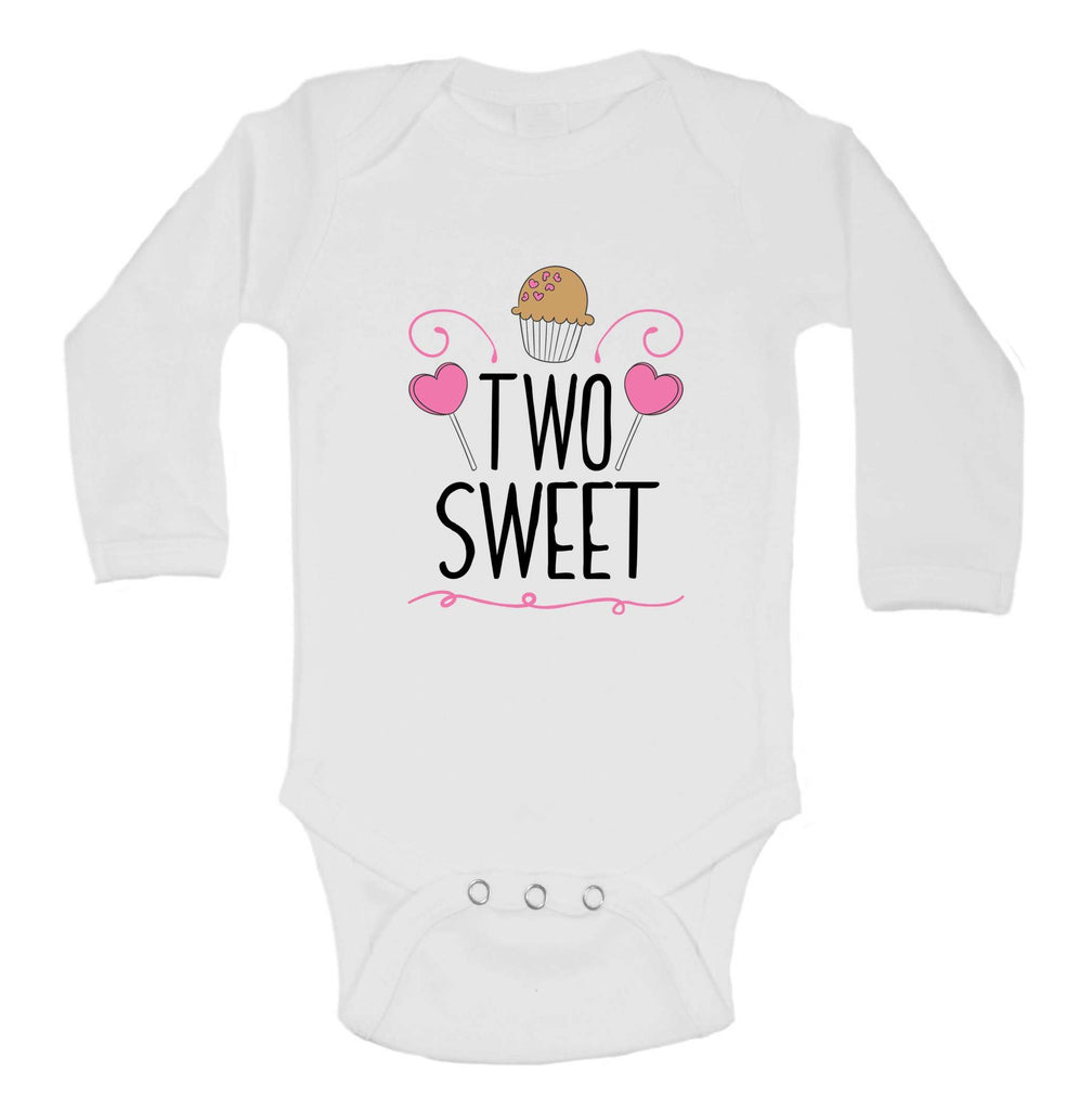 Two Sweet Funny Kids bodysuit Funny Shirt Long Sleeve 0-3 Months